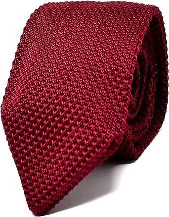 Oxford Collection Cravatta da uomo Rosso a Maglia - 100% Seta - Classica, Elegante e Moderna - (ideale per un regalo, un matrimonio, con un abito, in ufficio.)