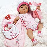 Paradise Galleries Reborn Baby Doll Lifelike Tall Dreams Gift Set Ensemble, 19-inch Weighted Baby, Safety d 6 Year Old Girls