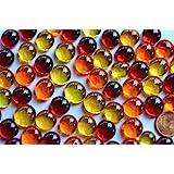Bazare Masud e.K. 100g (ca. 60St.) Mini Glasnuggets 10-13mm Sonnenmix transparent Dekosteine Glassteine Deko Mosaiksteine