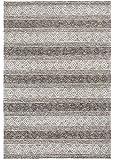 Luxor Living Handwebteppich Aalborg Wollteppich Handarbeit Unikat Ethno-Design Hygge, Farbe:Grau-Braun, Größe:160 x 230…