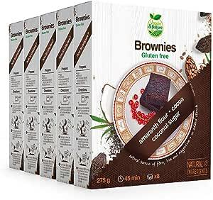 Veggie&Nature, Preparato per brownie senza glutine, confezione da 5 x 275 g