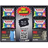 KADAM DISTRIBUTER'S Fabric Dyes Colour, Shade 27 Jeans Black, Pack of 10 Pouches
