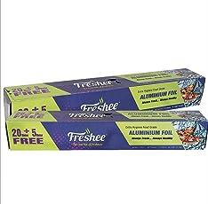 Freshee Aluminium Foil - 25 meter (Pack of 2), ISO 9000 Certified, Kitchen Foil