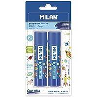 Milan Blister 2 bâtons de colle bleue 21 g Super Heroes Space