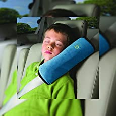 BUCKLE UP Car Pillow with Safety Belt Protect, Shoulder Pad(Assorted Color)