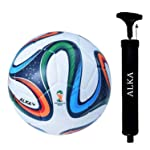 ALKA COMBO CLUB Brazuk 32 Panel Hand Stitched Football with Pump