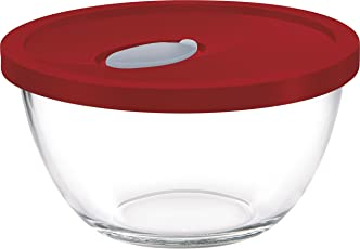 Treo Mixing Bowl Set with Lid (1 Ltr_Assorted_2 Pcs)