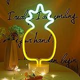 Ananas lumières LED Enseignes au néon Lights avec base Veilleuses LED Neon Lights batterie USB Opération veilleuses Décoratio