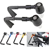Motorcycle Lever Guard Proguard Protector System CNC Aluminum & Plastic 7/8' 22mm Brake Clutch Levers Protector