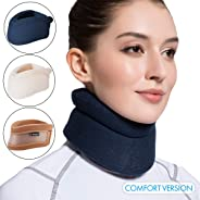 Velpeau Neck Brace -Foam Cervical Collar - Soft Neck Support Relieves Pain & Pressure in Spine - Wraps Aligns Stabilizes Vert