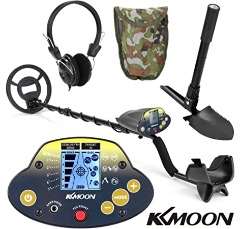 UOBEKETO Portable Metal Detector for Adults LCD Underground High Sensitivity Pinpointing Gold Detection Seeker Hunters Treasure Finder with Waterproof Coil