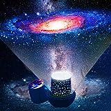 Kindernachtlampje sterrenhemel projector - 360 graden rotatie LED sterrenprojector baby kinderen nachtlampje sterrenhemel ste