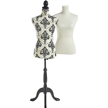 Beautify Mannequin Buste de Couture Femme Taille 36 38 avec 2 Revêtements  Blanc  69533096c6d0