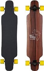 Kaliber Longboard Büffel Complete Board Flex Hard 41 x 9.5 Inch Made in Germany