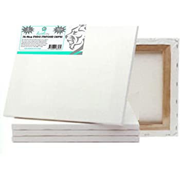 Loxley Gold 5 x 4-inch 18 mm Traditional Depth Stretched Artist Canvas Primed