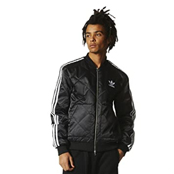 Adidas black quilted jacket
