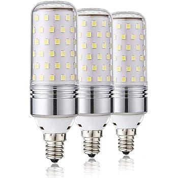 Leools E14 LED Maw LED 15W, 100W Bombillas incandescentes equivalente, 6000K Candelabro blanco luz