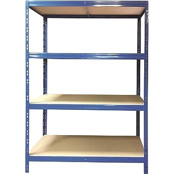 schwerlastregal 178 5x150x50cm callidus baumarkt blau pulverbeschichtet 150 cm breit 4. Black Bedroom Furniture Sets. Home Design Ideas