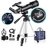 BNISE Telescopio a Rifrazione Portatile di 70 mm e Binocolo HD, con Ottica in Vetro Completamente Rivestito. Ideale per…
