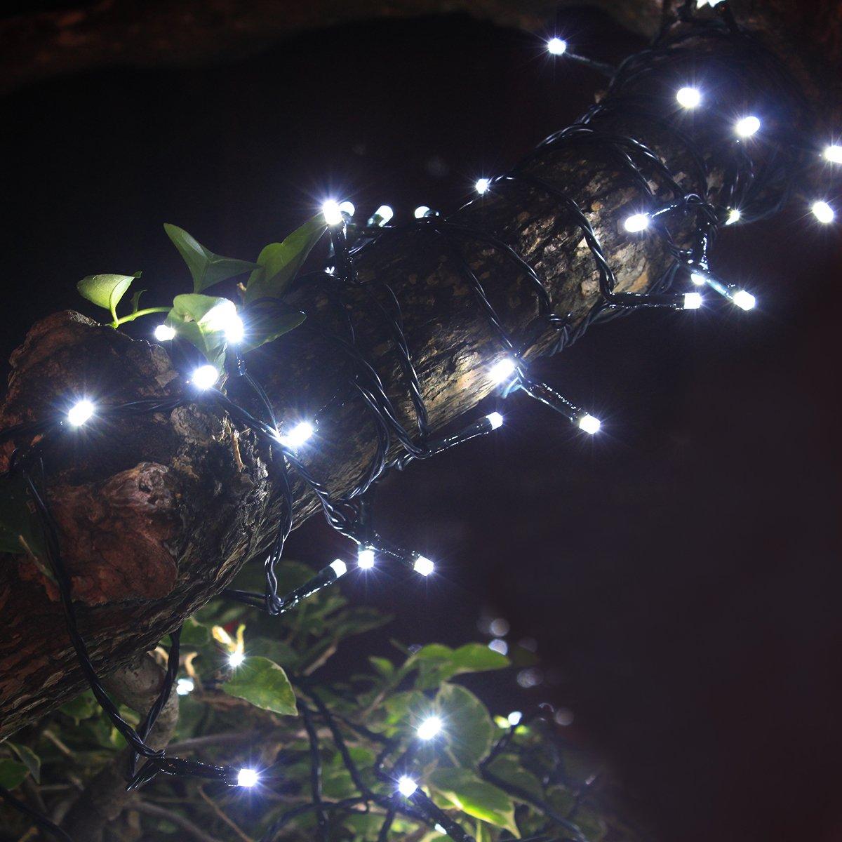 Addobbi Natalizi Giardino.Tuokay 22m 200 Led Luci Giardino Energia Solare Luci Da Esterno Luci Stringa Illuminazione Per Addobbi Natalizi Catene Decorazione Natalizie Albero Di