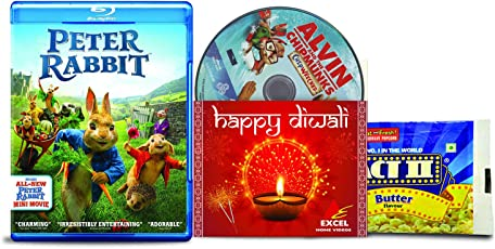 Peter Rabbit + Alvin and the Chipmunks: Chipwrecked - 2 English Movies (2 Blu-ray bundle offer)