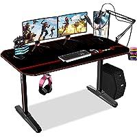 Himimi 55'' Bureau Gaming, 140 x 61 x 76 cm Ergonomic Bureau Gamer Bureau Gaming PC, Gaming Desk pour Bureau à domicile…