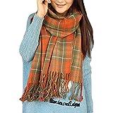 Sciarpa Donna Inverno, donna inverno scialle maglione cappotto Girl grandi Tartan Wrap Maglia Scialle Inverno Donna, Poncho D