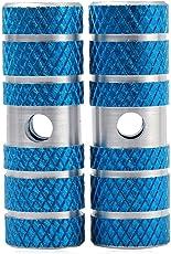 Naisicatar Axle Pied Pegs Stunt Pedal für BMX, Mountainbike, Fahrrad, 2-teilig, Blau