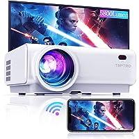 Vidéoprojecteur WiFi, TOPTRO 5800 Lumens Bluetooth Mini Projecteur Portable Soutien Full HD 1080P Rétroprojecteur Home…