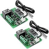 KKmoon 12/V Thermostat automatique r/égulateur de temp/érature Module alarme de temp/érature haute//basse 2/canaux relais Output