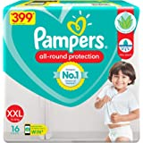Pampers All round Protection Pants, Double Extra Large size baby diapers (XXL) 16 Count, Lotion with Aloe Vera