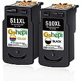 Gohepi PG-510XL CL-511XL Remanufactured Cartucce Canon PG-510 CL-511 (1 Nero,1 Tricromia) per Canon Pixma MP250 MP280 MX320 MP230 MP240 MP495 iP2700 MP260 MP270 MP490 MX330 MX340 MX350 MX360 MX410
