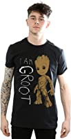 Marvel Uomo Guardians of the Galaxy I Am Groot Scribbles Maglietta