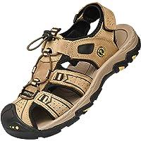 Lvptsh Sandali Sportivi Uomo Sandali de Passeggio Estivi All'aperto Escursionismo Trekking Sandals Pelle Casual…