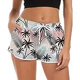 Fanient Pantaloncini da Bagno Donna 3D Graphic Pantaloncini da Spiaggia Quick Dry Pantaloncini da Bagno Estate Pantaloni da G