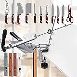 SEAAN Handmatige messenslijpers Professional met 4 slijpstenen, Rotatie vaste hoek messenslijper Pro RX-008, professionele ke