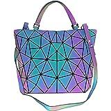 Geometrische leuchtende Geldbörsen und Handtaschen für Frauen, holografisch, reflektierend, Umhängetasche, Regenbogen-Trageta