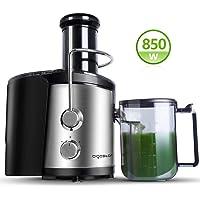 Aigostar MyFrappe Black 30IMX - 850W extracteur centrifugeuse de jus de fruits et légumes frais 100% sans BPA. 2 vitesses et jarre de 1,25 litres. En acier inoxydable de type 304. Design exclusif.