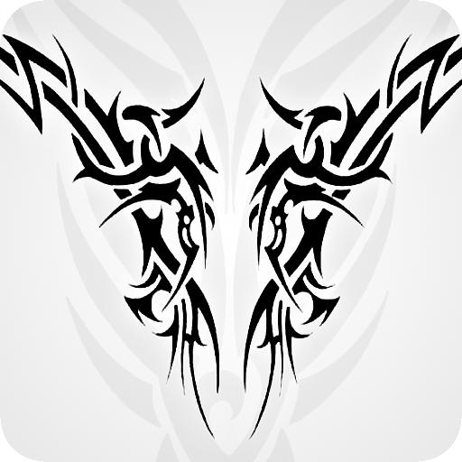 Body Paint Ideen - Tribal Tattoo Designs Set