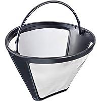 Westmark Filtre à Café Permanent, Taille 4, en Inox/PP, Dimensions: 11,9 x 11,2 x 8,3 cm, Noir/transparent, 24432260
