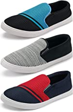 Ethics Men's Multicolored Loafers Combo Pack of 3 Loafers Shoes for Men's