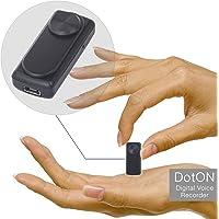 Enregistreur audio espion - Fonction d'Activation Vocale - Capacité de 90 heures sur 8 Go de mémoire - Batterie de 20 heures - dotON by aTTo digital
