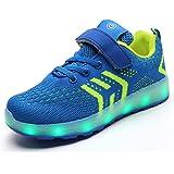 LED Scarpe Sportive Ginnastica per Bambini Ragazzi e Ragazze 7 Colori USB Carica Lampeggiante Luminosi Running Sneakers Scarp