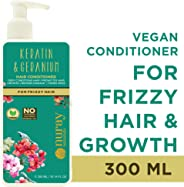 Nuray Naturals Vegan Hair Growth Keratin Conditioner for Frizzy Hair, 300 ml