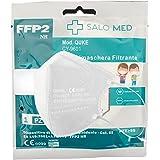 SALO MED - 20 Mascarillas FFP2 Tamaño Pequeño [Certificadas y Homologadas CE 0099 ] Desechables - XS Pequeñas - 5 Capas - Pac