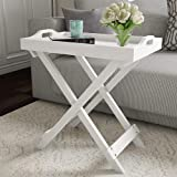 SKAFA Home Decorative Display and Accent Table Center Table Wooden (White) 60X31X46 cm