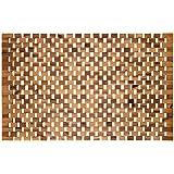 Badmat van hout | antislip badmat | robuuste houten mat voor badkamer - sauna & wellness - badmat van 100% acaciahout - 50x80