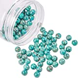 NBEADS 120Pz 8mm Perle Turchesi Naturali Africane, Gioielli Rotondi Perline di Pietra per Braccialetti per Collana Fai da Te,