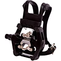 COZYROOMY SPD pedals - Hybrid pedal with clips and straps, Suitable for indoor exercise bikes, Spin Bike and all bikes…