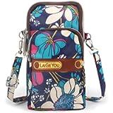 Idefair Mini Crossbody Bag Phone Bags Purse,Sports Armband Outdoor Sweat-Proof Small Compact Handbags Cross-Body…